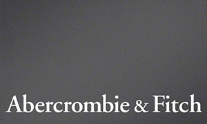 Grey gift card with the words, Abercrombie & Fitch on the bottom